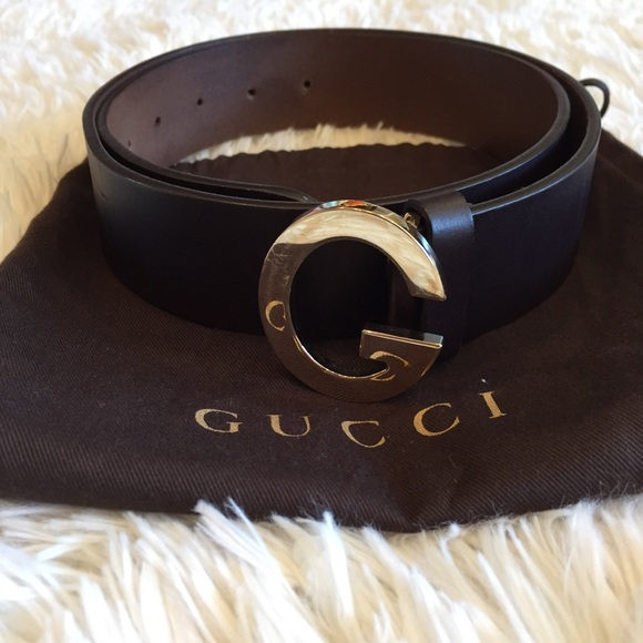 0dac506b144 Gucci Accessories - Gucci Brown Leather Belt Single Gold G Logo